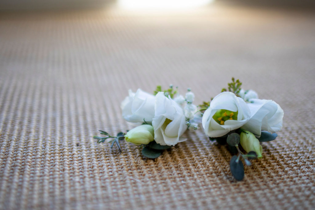 White corsages