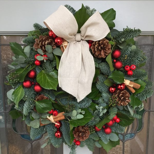 Red berries handmade christmas wreath